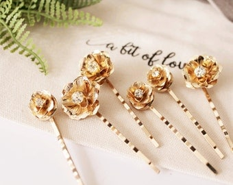 Set of 6 Bridal Flower Bobby Pins #173 #174