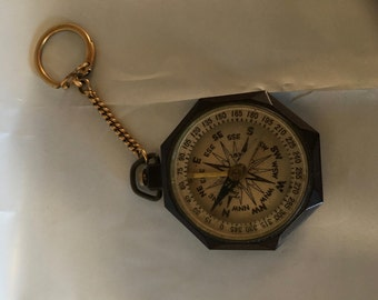 Compass - Vintage Bakelite Taylor Leedawl with gold-filled chain
