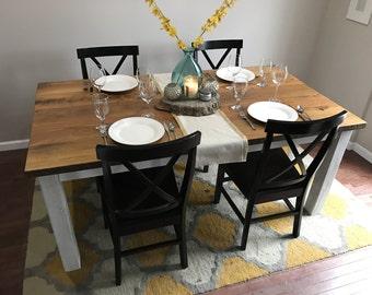 Reclaimed Hardwood Farmhouse Table