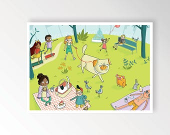 Walk in the park print