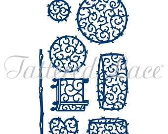 Tattered Lace Dies - Topiaries D461