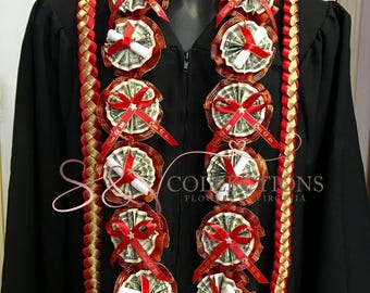Personalized money leis for Graduation-with your school color