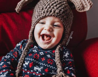 Baby | Toddler | Child Crochet Moose Hat