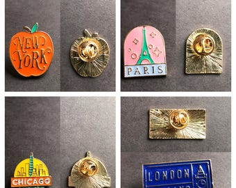 Favorite city- travel enamel pins