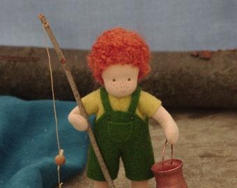 Tom Sawyer Waldorf doll boy // gift for boy // OOAK doll