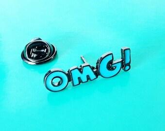 OMG - enamel pin