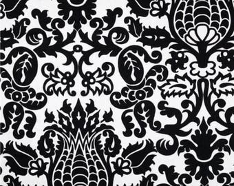 Cotton Fabric Damask Black White Amsterdam BTY