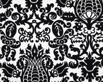 Cotton Fabric Damask Black White Amsterdam BTY