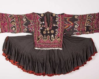 KOHISTAN Dress, JUMLO , northern Pakistan 1950s Traditional dress, costume  FREE shipping with ups