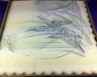 Vintage Box of Paper Napkins, Liberty of London Serviettes, Original Box, Fine Paper, Ducks in Flight