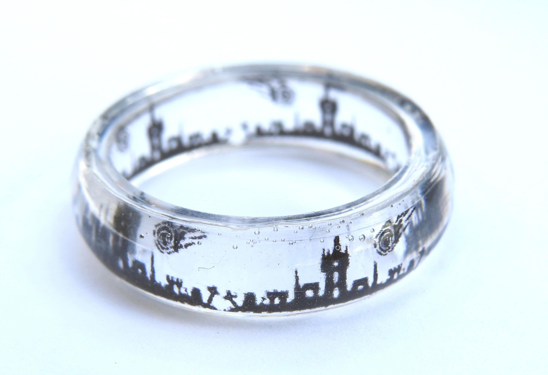 Translucent Resin Cemetery Ring