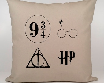 Harry Potter Gift, Harry Potter Pillow Cover, Harry Potter Always Pillow Cover, Harry Potter 9 3/4 Pillow Cover,Harry Potter Glasses Pillow.
