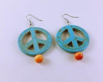 Blue Peace Earrings