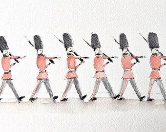 London Guards - illustrated print