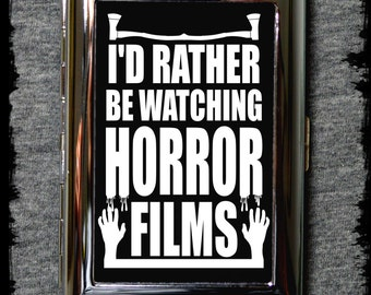 I'd rather be watching horror films cigarette case - cigarette case - cigarette cases - gift ideas - horror - horror films - horror case
