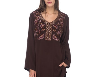 SCT011 - Hand embroidered silk tunic