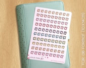 90 Alarm Clocks Mini Watercolor Stickers - On a A6 Format 10x14cm, Perfect for all Small Planners