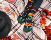 Rowan Berries socks   men socks   colorful socks   cool socks   mismatched   womens socks   unique socks   patterned socks   mountain ash