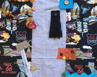 ROUTE 66 ROAD TRIP | Assisted Living | Alzheimer's Fidget quilt | Fidget blanket | Dementia | Add Weighted lap pad | by Restless Remedy