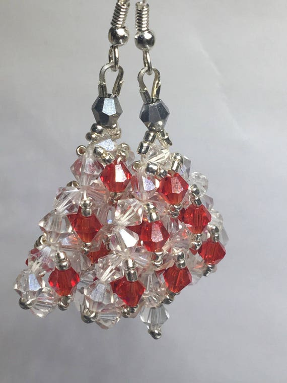 Items similar to Crystal Christmas Tree Earrings on Etsy