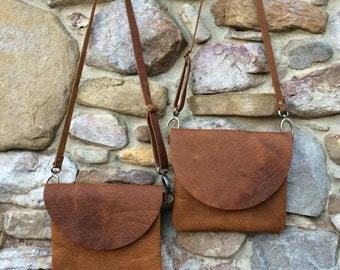 Ready to ship Bison Leather Crossbody, leather crossbody, aztec bag, hippie bag, hobo purse, bison bag, small crossbody
