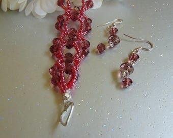 SALE - Ruby Wine Crystal Set