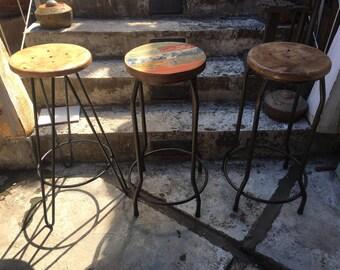 Hairpin Leg Bar Stool - wood bar stools - hairpin bar stool - TOP DEAL 65USD/57EUR + SHIPPING