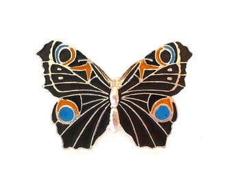 Butterfly - Vintage soviet cute pin badge / Made in USSR, 1980s