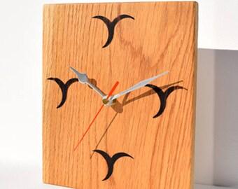 Handcrafted Contemporary Oak Clock