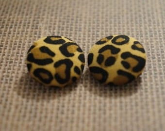 Wild Side Button Earrings