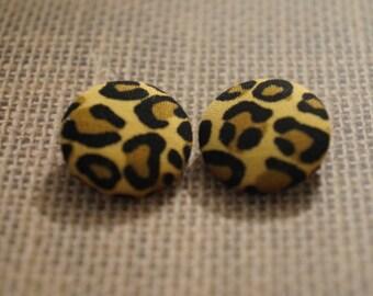 Wild Side Button Earrings