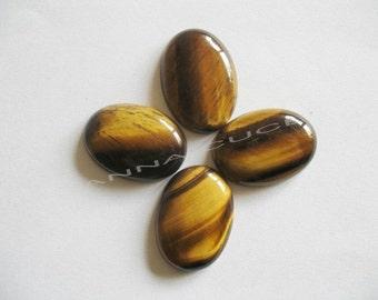 Cabochon gemstone tiger eye oval measuring 35 x 25 each