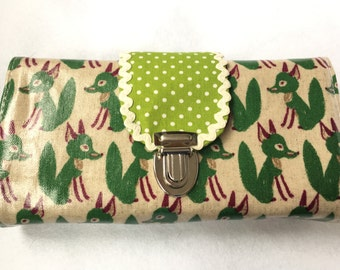 Wallet Deluxe green Fox