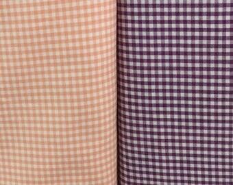 1/8 purple & 1/8 peach Carolina Gingham