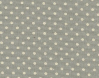 Green Polka Dot Canvas, 100% Cotton Canvas Fabric by Fat Quarter