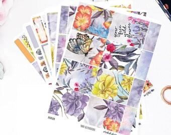 Wildflower Song Planner Stickers | for Erin Condren Vertical, Planner Stickers, Filofax, KikkiK, Happy Planner, Travelers Notebook