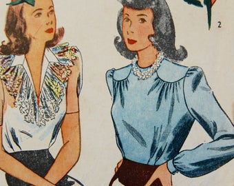 1940s Beautiful original vintage DITA Blouse shirt PATTERN