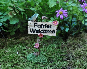 Fairies Welcome Sign with Butterfly