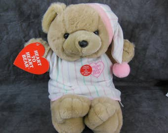 """Heart to Heart 18"""" Plush Beating Heart Stuffed Toy 1986 Chosun Works - Vintage"""