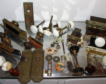 Lot Old Door Knob Sets & Hardware A LOT of Items Here For The Money
