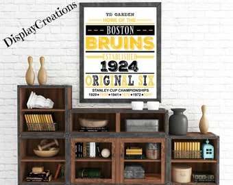 """Personalized """"Boston Bruins"""" Wall Art"""