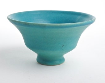 Vintage Van Briggle Original Hand Thrown Turquoise Pottery Bowl, Art Pottery Signed Nelson Curtis, MCM Handmade Pottery
