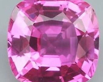 Synthetic Lab Created Pink Sapphire Corundum Cushion AAA Loose Gemstones (5x5mm - 15x15mm)