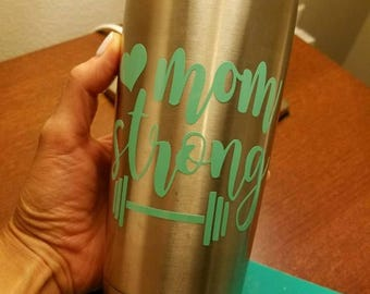 Mom strong decal
