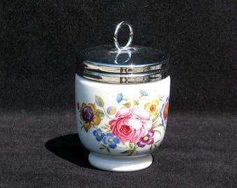 Larger Vintage Royal Worcester Porcelain Egg Coddler | Bournemouth pattern