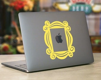 Friends TV Show Peephole Frame MacBook Decal-Monica's Apartment Friends-Friends Stickers- Friends Laptop Accessories