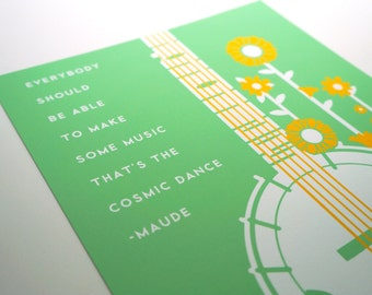 Harold and Maude Movie Quote Banjo Art Print 8x10