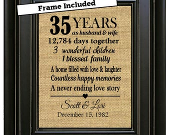 Wedding Anniversary Gifts For Parents 35 Years : Gift/35th Anniversary Gifts/35th Wedding Anniversary Gifts/35 years ...