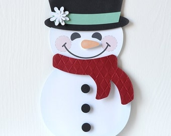 Snowman Gift Card Holders: snowy friend with scarf and hat, gift for kids, for office, for coworker, for teacher, friend gift - LRD006GH