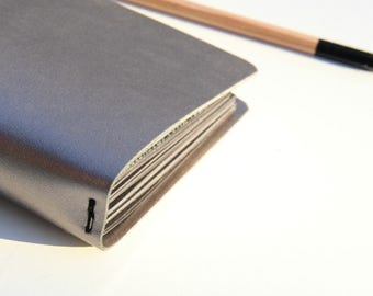 Travelers Notebook Cover Metallic Taupe, Fauxdori, Midori Travelers Notebook Cover, Midori Cover, Journal, Hobonichi Cover, various sizes.